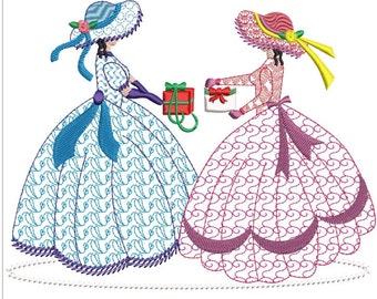 SOUTHERN BELLE machine embroidery download 3 diff sizes (5x5  6x6  7x7)