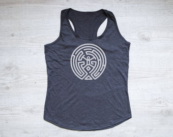 Westworld maze tank top tee women's tank top tri-blend racerback tank westworld tv show Westworld maze shirt best friend gift