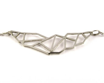 "Geometric stainless steel necklace | ""Birdy"""