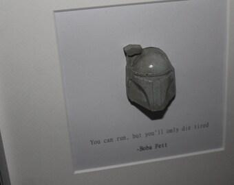 Boba Fett Quote Concrete 3D Frame