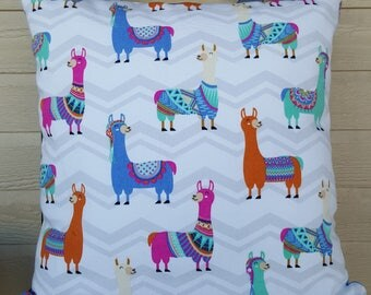 Llama Pillow Cover 16x16 inches
