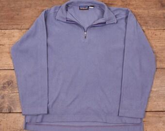 Womens Vintage Patagonia Zip Up Fleece Jacket Lilac Purple Size M R4930