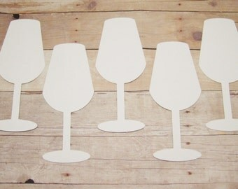 Champagne Glass Cutouts-Wedding Decor-Bridal Shower Decor-DIY Wedding-Paper Champagne Flutes-Cardstock Wedding Cutouts-Bachelorette Party