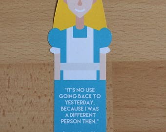 Alice in Wonderland Bookmark 'Alice'