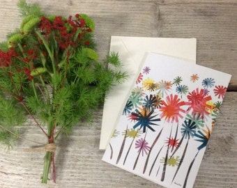 Card, Spring Time, flower card, paper goods, stationary, greeting card, blank card, floral, illustration card, blank greeting card, card.