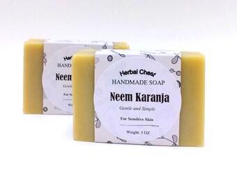 Neem Soap - Neem Oil - All Natural Soap - Aloe Vera Soap - Eczema Soap - Cold Process Soap - Shea Butter Soap, Homemade Soap, Sensitive Skin