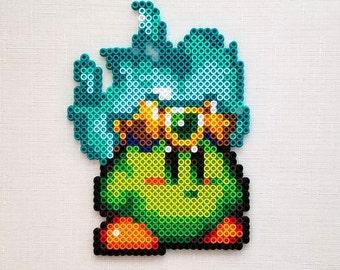 Plasma Kirby Perler Bead Sprite