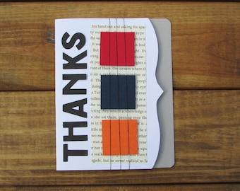 Thank You Card - Thanks Card, Custom Thank You Cards, Handmade Thank You Cards, Thank You Cards, Thank You Card Set of 10, Handmade Cards