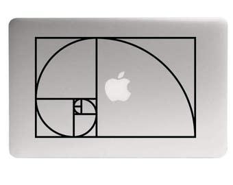 Fibonacci Spiral MacBook Decal, Golden Ratio Sticker, Math Sticker, Science Math Engineering Gift, Gear Decal, Fibonacci Yeti Cup Sticker