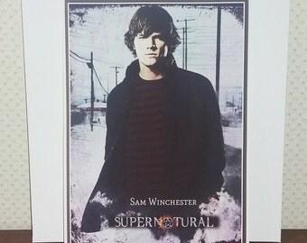 Sam Winchester, Supernatural, Jared Padalecki, printed posters A4.