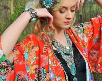Feather hair piece, Feather hair fall, Festival, gypsy, wedding,  burningman,  boho,hippie,western,renaissance festival,costume, fascinator
