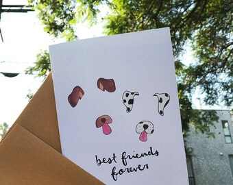Best Friends Forever - Snapchat Dog Filter Thinking of You Card