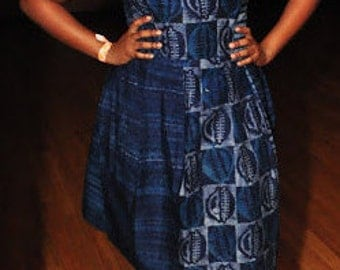 Blue Tie Dye Dress, African Dress, African Clothing, Short Dress, African Dresses for Women, African Clothing