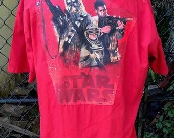 Star Wars Shirt Star Wars The Force Awakens Rey Finn Chewbacca Gift Eco Size XL