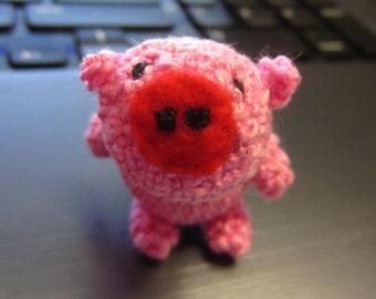 Cute Amigurumi Pink Pig