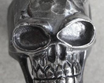 Skulls Biker Ring STERLING SILVER
