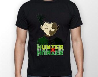 Gon Face HXH Hunter X Hunter Anime Otaku Black Tee Tshirt T-Shirt UNISEX