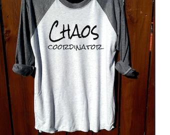 women shirt,women clothing,fashion shirt, unisex shirt,heather grey/heather white, workout shirt, women tee, chaos coordinator