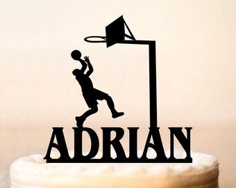 Decoration gateau basketball