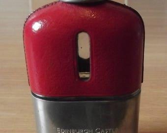 Vintage glass hip flask