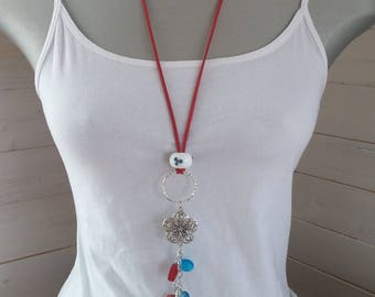 Redans turquoise long necklace