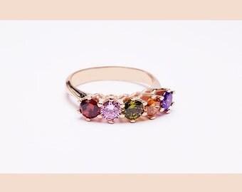 Mothers Birthstone Ring - Birthstone Rings - Family Birthstone Ring - Family Jewelry - Multistones Ring - Personalized Birthstone Ring