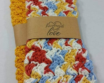 Handcrafted Crocheted Cotton Wash Cloth Dish Cloth Luxury Spa Dishes