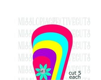 Giant Flower template 6 SVG DFX Cut file flower includes tutorialscrapbook vinyl decal wood sign cricut cameo Commercial use