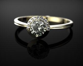 Green Amethyst Engagement Yellow Gold Prasiolite Ring Prasiolite Ring Green Amethyst Ring Gemstone Green Amethyst Ring Engagement Ring