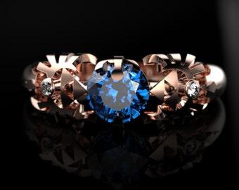 Zelda Engagement Ring Triforce Inspired Gold Engagement Ring Nintendo Video Game Wedding Ring Geek Engagement Ring Geeky Nerdy