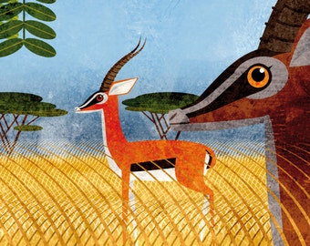 Narava - Gazelles print