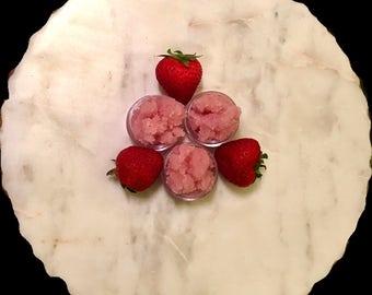Luscious lip scrub,strawberry scrub, natural edible beetroot color, cute gift