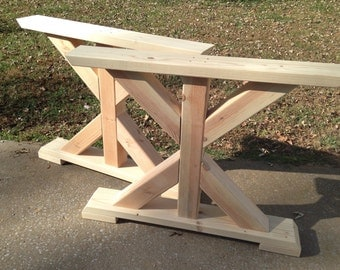 trestle table legs etsy