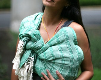 "98.5"" Extra long Baby carrier wrap mexican Rebozo sling 2.5mts, with user's guide"