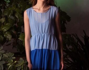 See-through dress, summer dress, ombre dress, sheer dress, ruffle dress, light dress, transparent dress, colorful dress, bridesmaids dress
