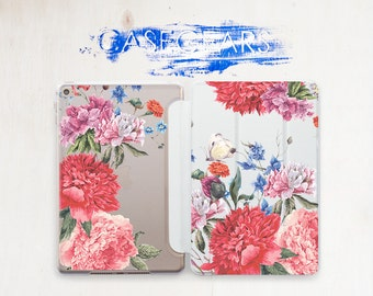 Red Flowers iPad Case iPad Pro Case iPad Air 2 Case iPad Pro 9.7 Case iPad Air Case iPad Air 2 Cover iPad Pro Cover iPad Air 2 Cover CGSC019