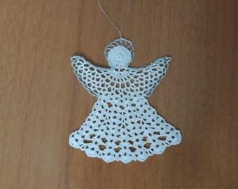 Christmas tree decoration / Christmas ornament / Angel / Crochet angel / Angel ornament