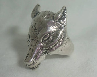 Vintage Wolf Ring