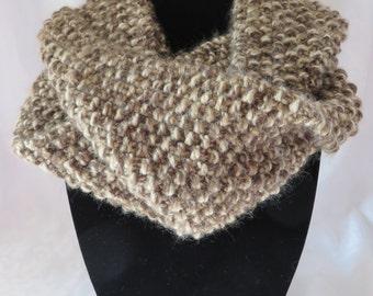 Hand Knit Infinity Scarf / Brown Infinity Scarf / Infinity Scarf / Chunky Scarf / Circle Scarf / Loop Scarf / Eternity Scarf / Scarf 105