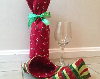 Wine Gift Bag -- Hostess Gift -- Holiday Gift