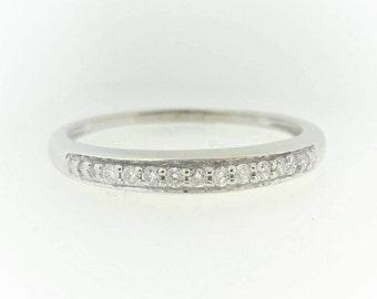 Diamond Wedding Band in 14k White Gold (0.1 ctw)