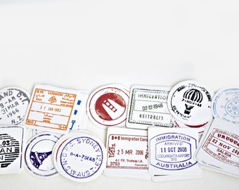 40 pcs Travel Passport Stamps Planner Stickers, Decorative Stickers - STK082
