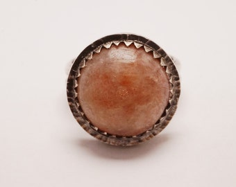 Sunstone Silver Ring