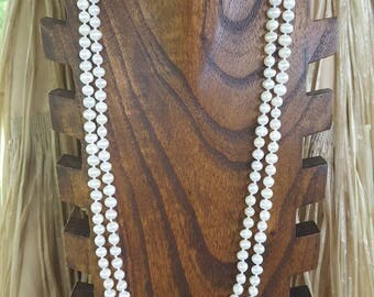 "60"" Extra Long Fresh Water Pearl Necklace, Extra Long Fresh Water Pearls Necklace,  Long White Fresh Water Pearls, 60"" Long Pearl Necklace"