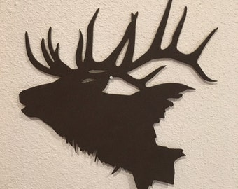 Elk Head Silhouette AN10