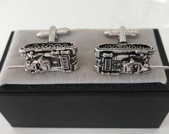 Tank CuffLinks - Ideal gift or Wedding Best Man Present - Army Lover Gift