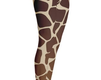 Giraffe Leggings - Giraffe Print Leggings - Giraffe Costume - Christmas Gift - Giraffe Dress - Womens Leggings - Giraffe Tights