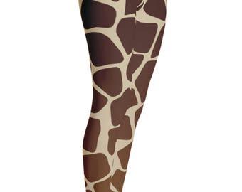 Giraffe Leggings - Giraffe Print Leggings - Giraffe Costume - Christmas Gift - Giraffe Dress - Womens Leggings - Giraffe Tights
