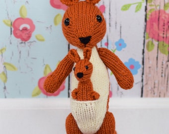 Kangaroo, Stuffed Animal, Gender Neutral, Baby Gift, Kids Toy, Handmade Toy, Kids Gift Idea, Cute Toy, Plush Doll,  Shower Gifts, Wool Toy