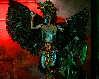 Mayan Tribal Warrior Dancer 2, Yucatan, Mexico